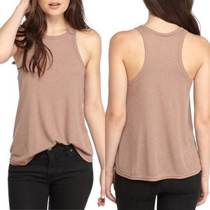 Free People   high neck ribbed tank